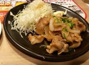 ガストの「豚肉の生姜焼き」